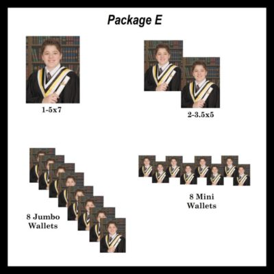Package E- graduation photo package