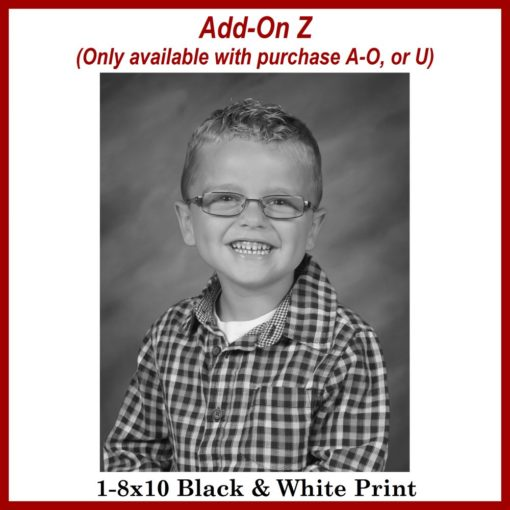 black and white school print