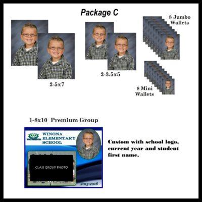 School photo package C