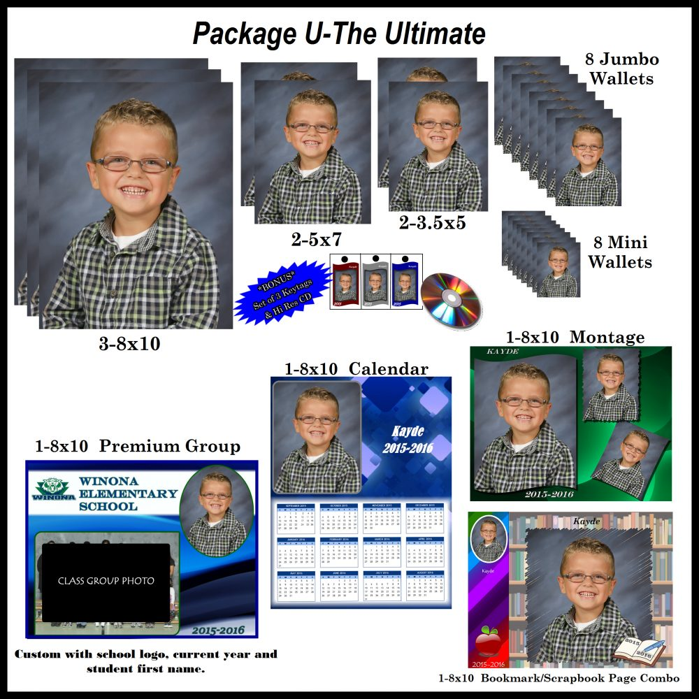 Ultimate school photo package